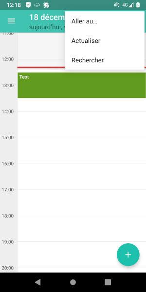Calendar actualisation