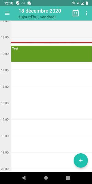 Calendar événement de test