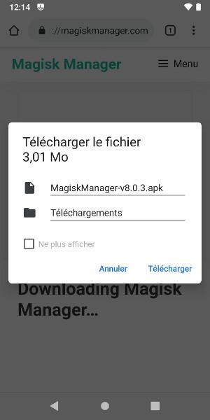 Télécharger Magisk Manager