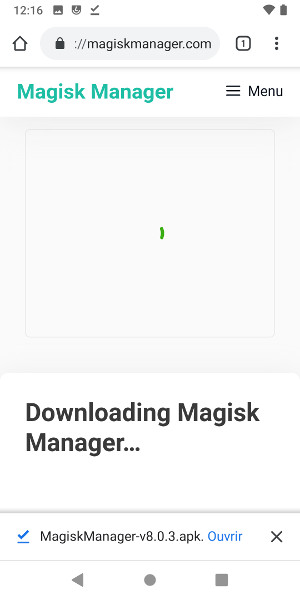 Ouvrir Magisk Manager