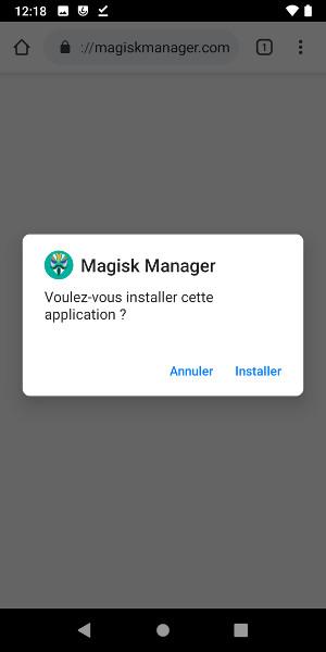 Installer Magisk Manager